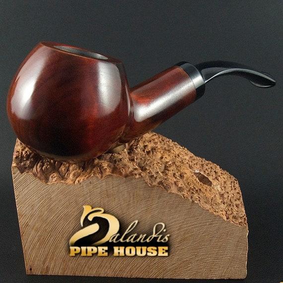 "BALANDIS Handmade pear wood Tobacco SMOKING PIPE ""sparrow"" smooth Brunn"