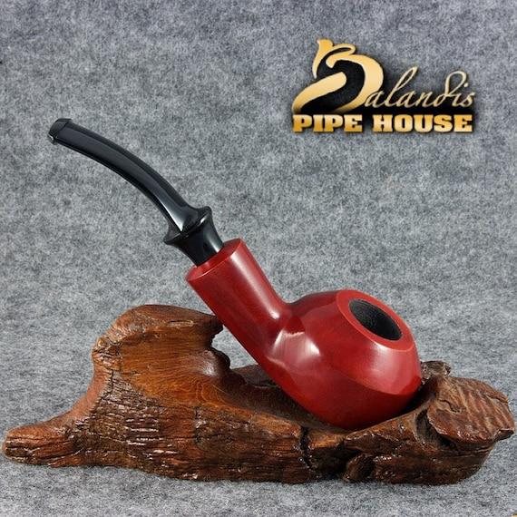 "BALANDIS Original Pear wood Handmade Tobacco Smoking Pipe - No. 33 "" DUKE "" Rosa"