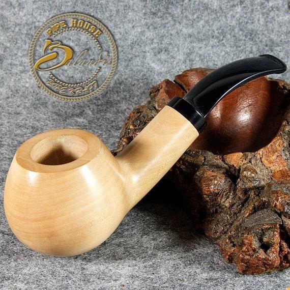 "Hand made Mr.Balandis original small smoking pipe ""SPARROW"" natural WAX & WOOD"