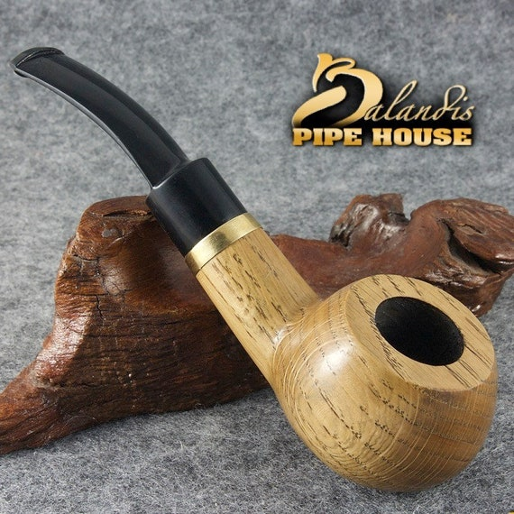 "BALANDIS Original Tobacco Handmade Smoking Pipe Nr 210 "" ANGEL OAK "" Natural"