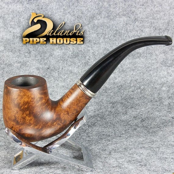 BALANDIS Exclusive Hand Made & Smooth Briar wood smoking pipe Bent SAUL Tamsus