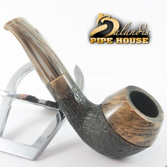 BALANDIS original Handmade Tobacco Briar wood smoking pipe MARCAN Marble