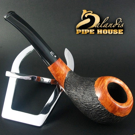 ORIGINAL smoking pipe handmade in POLAND by master H.WOROBIEC nr.113 teak carved
