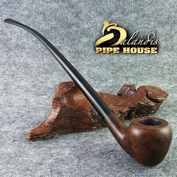 "Smooth Briar wood Tobacco - smoking pipe LONG "" CLARHER "" LOTR Churchwarden"