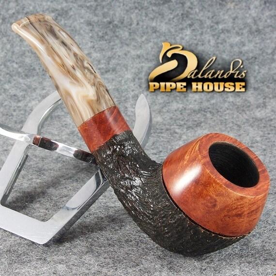 Mr.BALANDIS original Handmade Tobacco Briar wood smoking pipe MARCAN - MAGHONIT