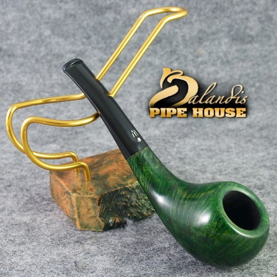 ORIGINAL smoking pipe handmade in POLAND by master H.WOROBIEC nr.112 Graya Green