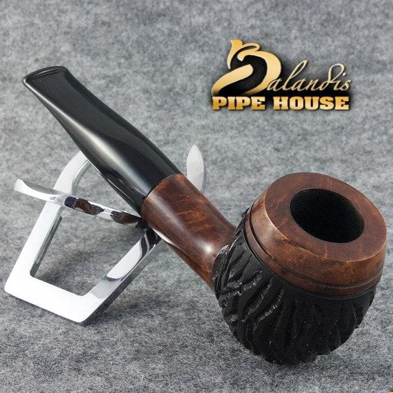 "EXCLUSIVE BALANDIS original Briar Handmade smoking pipe ""BARNABA"" Rustic Brutus"