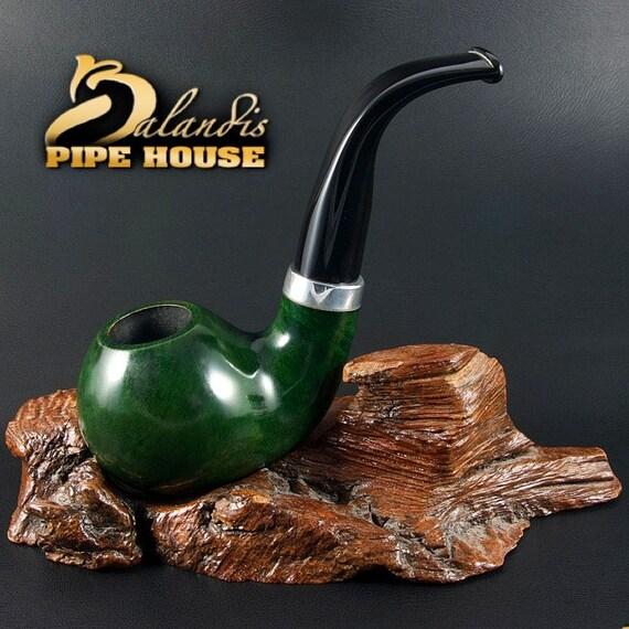 """Exclusive BALANDIS ORIGINAL Briar Wood Handmade smoking pipe """"FROGGIE 99"""" Apis"""