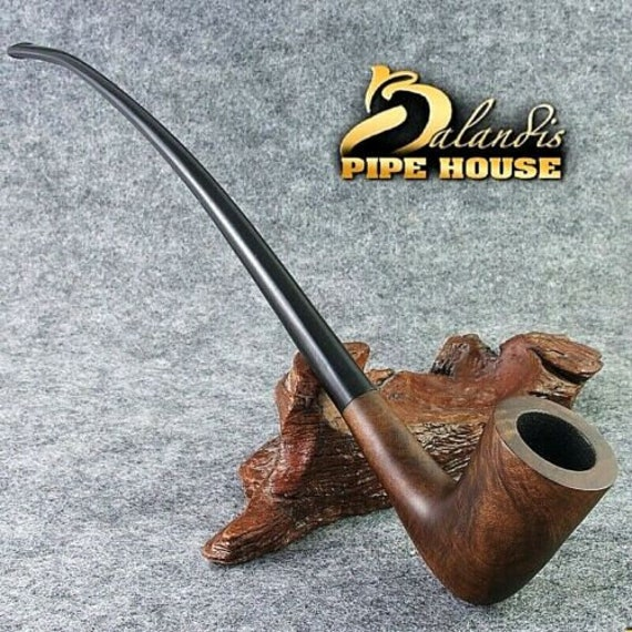 Smooth Briar wood - Tobacco - LONG - smoking pipe GONDOLIN - LOTR Churchwarden