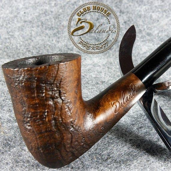 "Balandis EXCLUSIVE HAND MADE Smooth sandblasted Briar wood smoking pipe "" Baggins Linda """