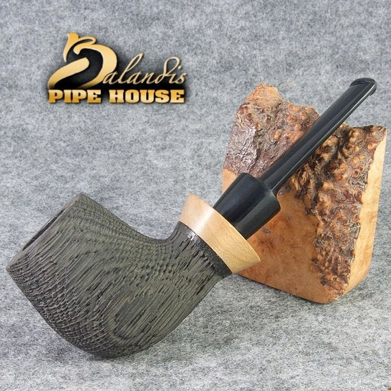 Outstanding D. BALANDIS Handmade Smoking Pipe natural Bog Oak Wood MORTA - RANGA