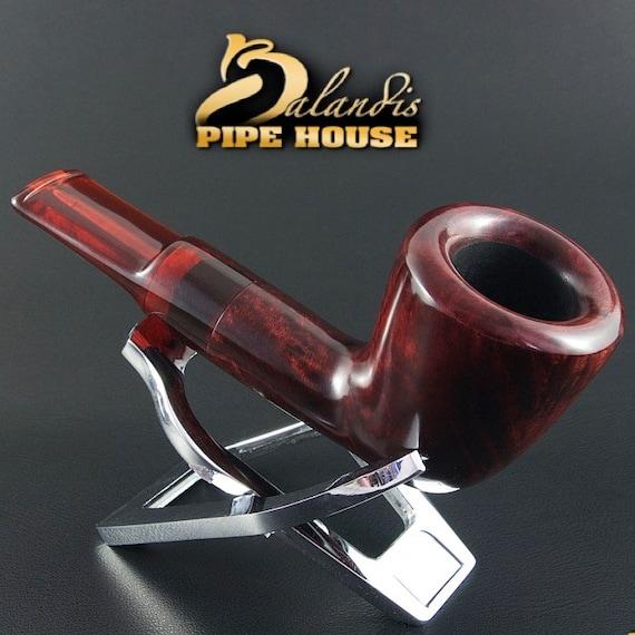 "EXCLUSIVE BALANDIS ORIGINAL Briar Handmade Smoking Pipe "" Indiana "" Smooth Rubin"
