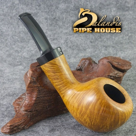 "H.Worobiec BRIAR Tobacco Smoking Pipe Hand Made Nr.84 "" MARIANA "" Smooth Amber"