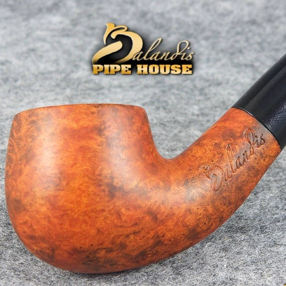 Mr.BALANDIS HAND MADE Smooth /& Waxed BRIAR wood smoking pipe SMALL HOLMES Rout