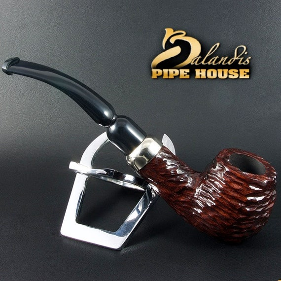 Mr.BALANDIS Hand Made pear wood classic smoking pipe *ADELL BRUNN *