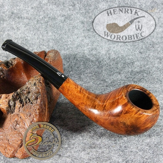 ORIGINAL smoking pipe handmade in POLAND by master H.WOROBIEC nr.112 teak smooth sex