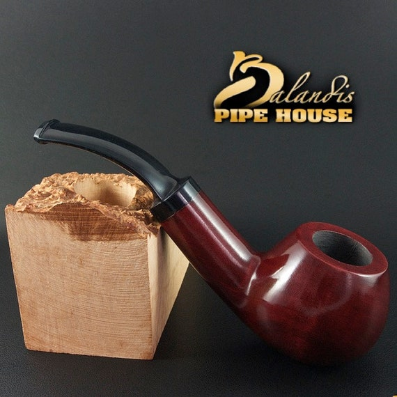 "Outstanding Mr.Balandis original Hand made smoking pipe "" SPARROW "" smooth RUBIN"