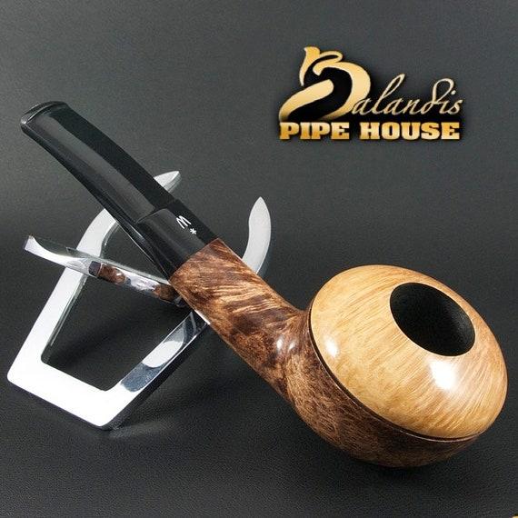 OUTSTANDING H.WOROBIEC Nr 148 Briar Wood Handmade Smoking Pipe TOMATO Bronalia