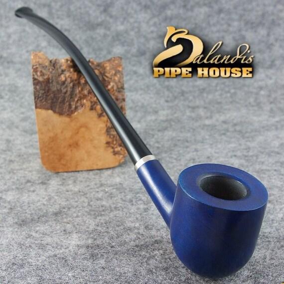 BALANDIS Original Handmade Tobacco smoking pipe - 11 CHURCHWARDEN - WIZARD Blue