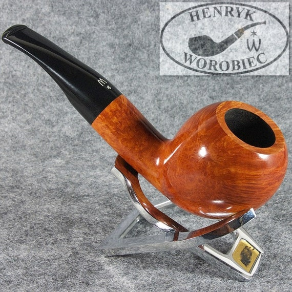 ORIGINAL smoking pipe handmade in POLAND by master H.WOROBIEC nr.134 teak smooth