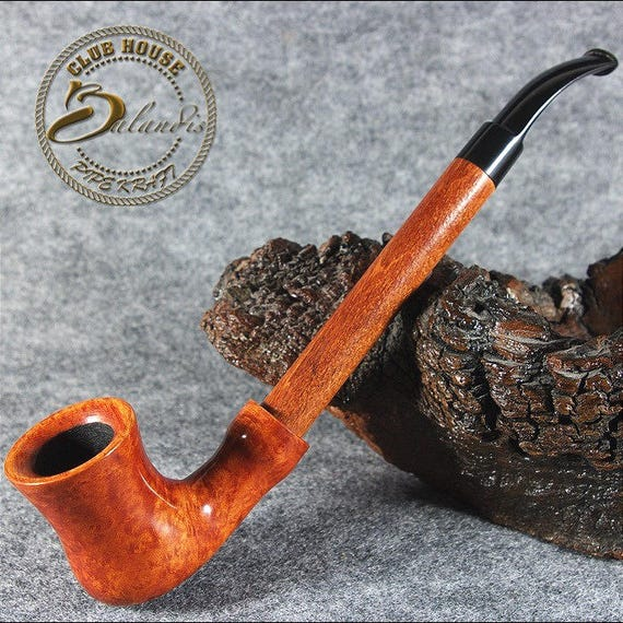 "Exclusive BALANDIS Original Briar Handmade Smoking pipe ""RUMCAJS"" teak RARE"
