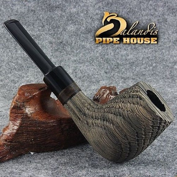 Smoking Pipe by TURKIEWICZ Handmade  natural Bog Oak Wood MORTA - KAURI