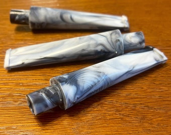 Abs Stems for smoking pipes UNIQUE patern B/G pack of 3 pcs