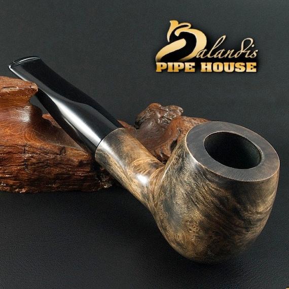 "Exclusive BALANDIS Original Briar Handmade Smoking Pipe "" BARNABA "" smooth MARMA"