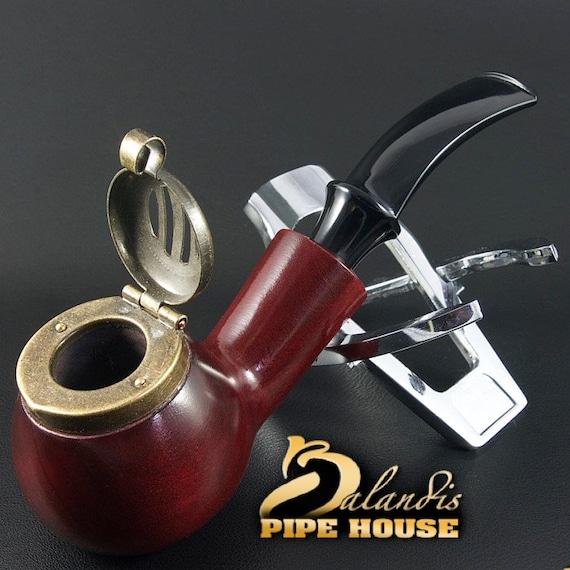 "Outstanding Mr.Balandis original Hand made smoking pipe ""KAISER 25"" smooth RUBIN"