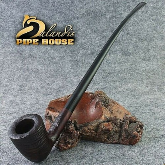 "BALANDIS Sandblasted Briar Long smoking pipe "" CHERHAR Rast "" Churchwarden LOTR"