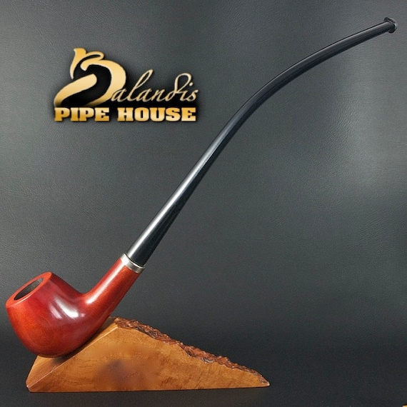 "BALANDIS Original Handmade Pear Wood Tobacco SMOKING Pipe ""CHURCHWARDEN"" Teak"