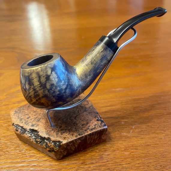 "Outstanding Mr.Balandis original Hand made smoking pipe "" SPARROW "" smooth Goldie UNIQUE"