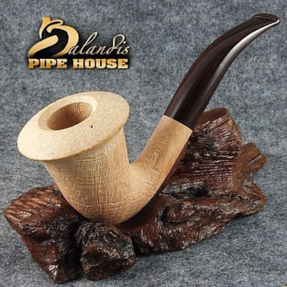BALANDIS original Sandblasted tobacco smoking pipe Briar Handmade CALABASH Sando