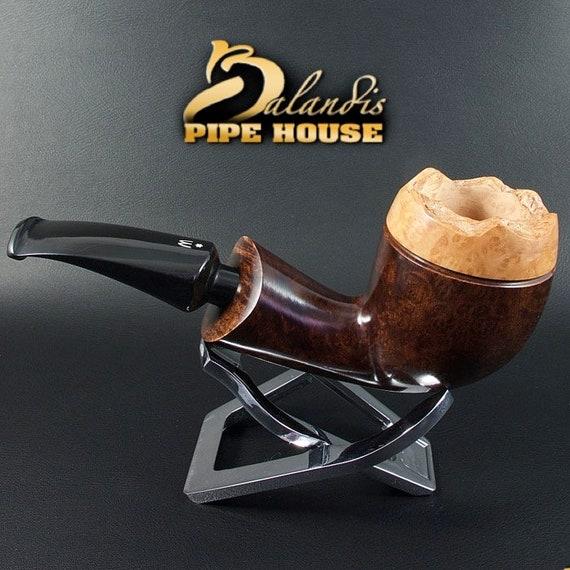 Outstanding WOROBIEC Nr 88 BRUNN KING Briar Italian Wood Handmade Tobacco Smoking Pipe
