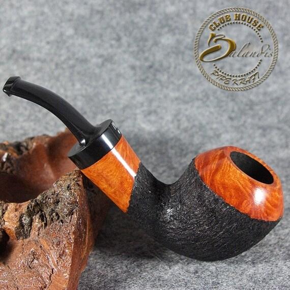 ORIGINAL smoking pipe handmade in POLAND by master H.WOROBIEC nr.123 teak carved