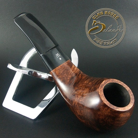 Original Tobacco Smoking Pipe Handmade in Poland by MASTER H.WOROBIEC nr.42 Smooth Brown
