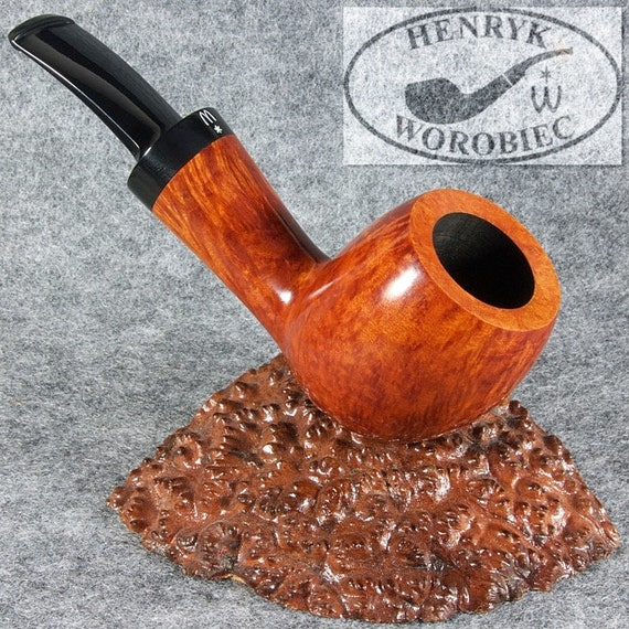 ORIGINAL smoking pipe handmade in POLAND by master H.WOROBIEC nr.82 teak smooth