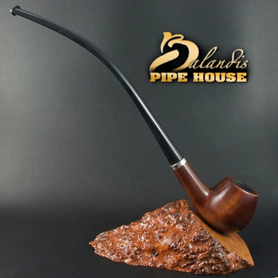 "BALANDIS Original Handmade Pear Wood Tobacco SMOKING Pipe ""CHURCHWARDEN"" Baron classic smooth"