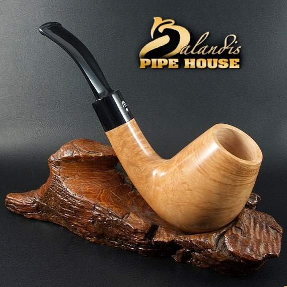 Outstanding WOROBIEC Nr 78 natural SUPER BOWL briar Wood Handmade Tobacco Smoking Pipe