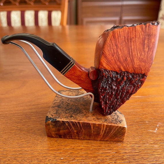 AUTOGRAPH ZIBI- Hand made - Carved & Waxed Briar wood smoking pipe  Unique