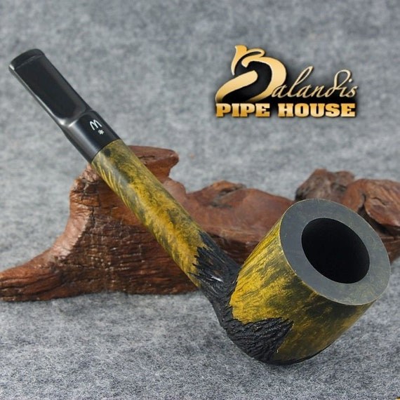 OUTSTANDING WOROBIEC Nr 156 Italian briar Wood Handmade Smoking Pipe BARON Swamp