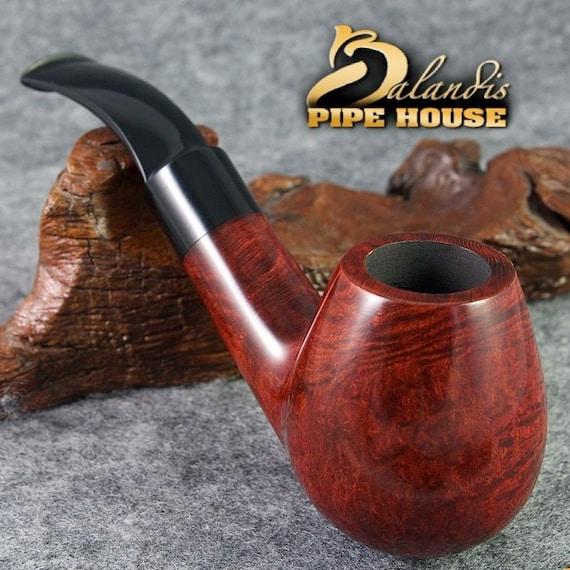 """BALANDIS Original Briar Handmade Smoking Pipe Nr.452 """" COLUMBUS """" Rubin smooth"""