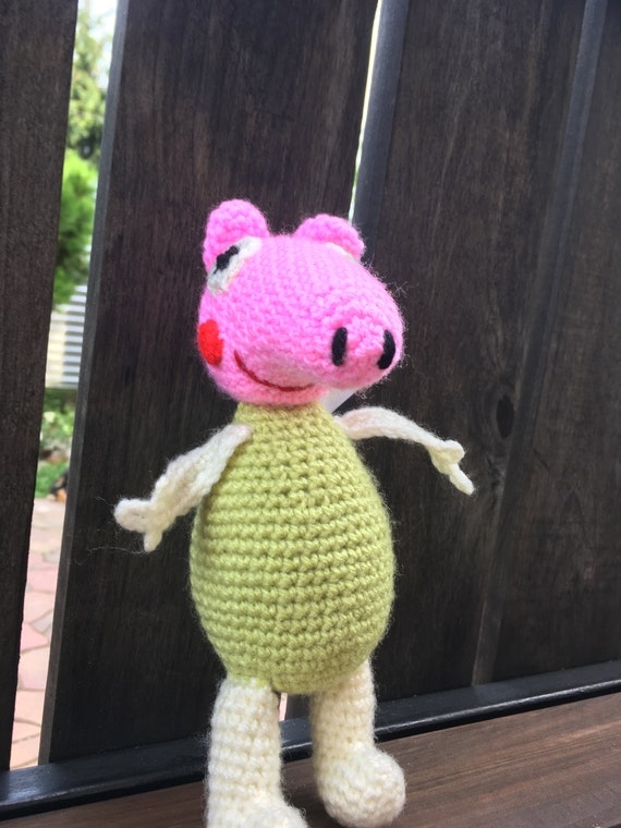 Crotchet Piggy PePa Stylised toy soft toy handmade Amigurumi