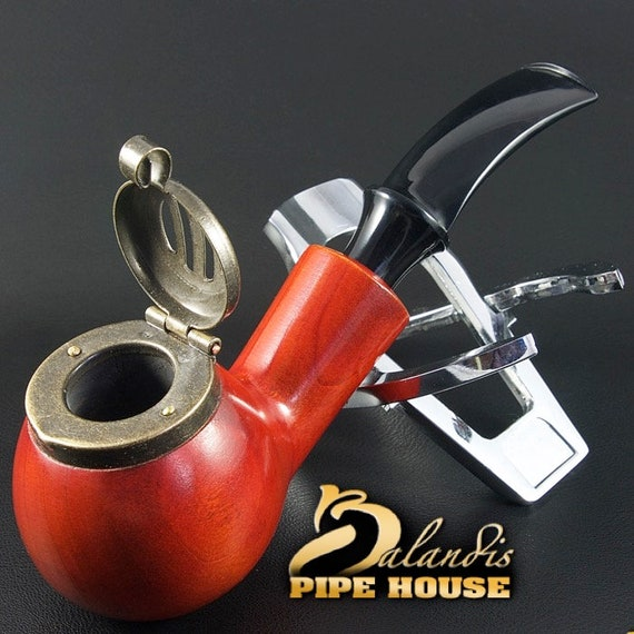 "Outstanding Mr.Balandis original Hand made smoking pipe ""KAISER 25"" smooth TEAK"
