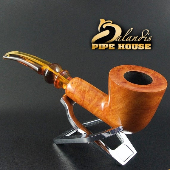 "EXCLUSIVE BALANDIS Original Briar Handmade Smoking Pipe "" AFRICA "" Teaker smooth"