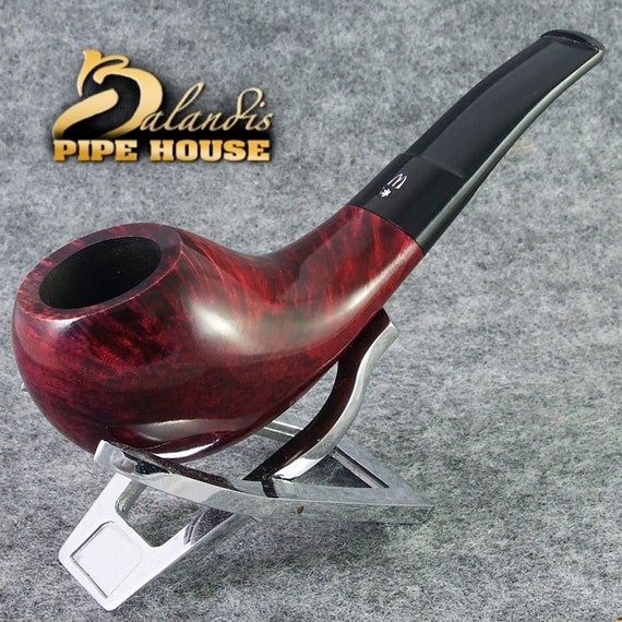 Original Tobacco Smoking Pipe Handmade in Poland by MASTER H.WOROBIEC nr.42 Smooth Red