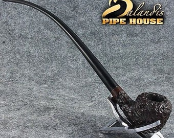 Hand Made carved Briar wood TOBACCO LONG smoking pipe 10.11 LOTR Churchwarden