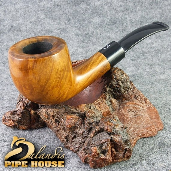 Outstanding WOROBIEC Nr 96 LORD HONEY Briar Italian Wood Handmade Smoking Pipe