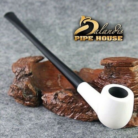 "Balandis original Tobacco 215mm / 8.46"" Churchwarden smoking pipe * White LADY *"