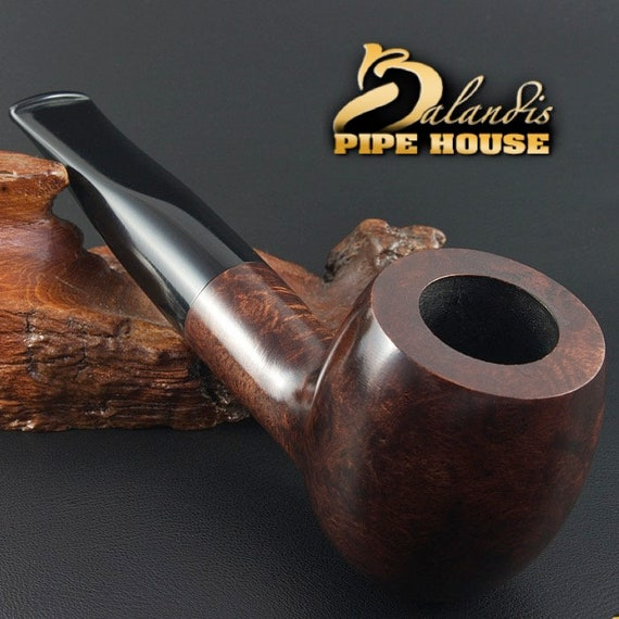 "Exclusive BALANDIS Original Briar Handmade Smoking Pipe "" BARNABA "" smooth BARON"